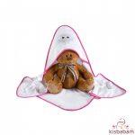 Albero Mio Kapucnis Kifogó - H237 Baglyos Pink-Fehér