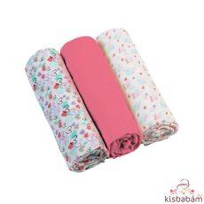 Babyono Textilpelenka Színes 3Db 348/02 Pink