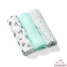Babyono Textilpelenka Színes 3Db Bambusz 397/04 Halványzöld