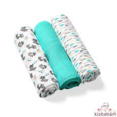Babyono Textilpelenka Színes 3Db Bambusz 397/06 Türkizkék