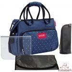 Badabulle pelenkázó táska BOHO sötétkék  B043019