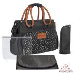 Badabulle pelenkázó táska BOHO fekete  B043026