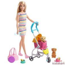 Barbie: Kölyök Kutyus Sétáltató Játékszett - Ghv92