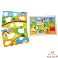 Bébi Puzzle, Vidéki Táj 3 Az 1-Ben - Hp E1601A