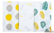 Bubaba Textil Pelenka 3Db - Sárga