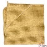 Ceba fürdőlepedő kapucnis 100x100cm gofri krém gold