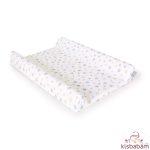 Ceba Pelenkázólap Huzat Pamut (50X70-80) 2Db/Csomag Világosszürke Szürke Sárga Csillagos