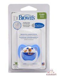 Dr. Browns Prevent Vákummentes Fogszabályzós Játszócumi 0-6H-Kék Kutya 1Db