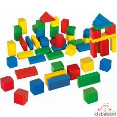 Eichhorn: Hagyományos Építőkocka - 50 Db, Színes - 100050161