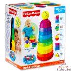 Fisher-Price fejlesztő játék színes csészepiramis W4472