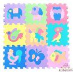 Freeplay Puzzle Játszószőnyeg - Állatok (Lila, Kék Elefánt)