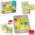 Logikus Farm -Logikai Fejlesztő Játék Feladatkártyákkal (Goula, JG 53168)