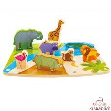 Játék És Puzzle Egyben!-Vadállatok - Hp E1455A