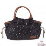 Kikkaboo pelenkázó táska Dotty fekete