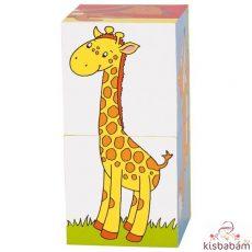 Kocka Puzzle - Állatok - Gk 57725