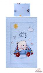 Lorelli 3 Részes Ágyneműgarnitúra - Bear & Car Blue