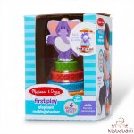 Melissa & Doug Fa készségfejlesztő játék, Egyensúlyozó elefánt - 30127