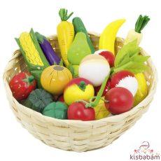 Nagy Kosaras Gyümölcs És Zöldség Szett - Gk 51660