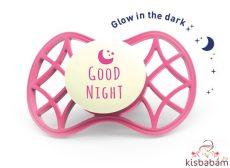 Nuvita Air.55 Cool! Éjszakai Fogszabályzós Cumi Védőkupakkal 6Hó+ - Glow Marsala - 7084